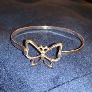 Jewelry - Sterling silver butterfly bangle bracelet